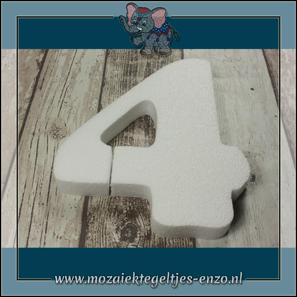 Knutselmateriaal Styropor | Groot | Piepschuim vormen | Cijfer - 4