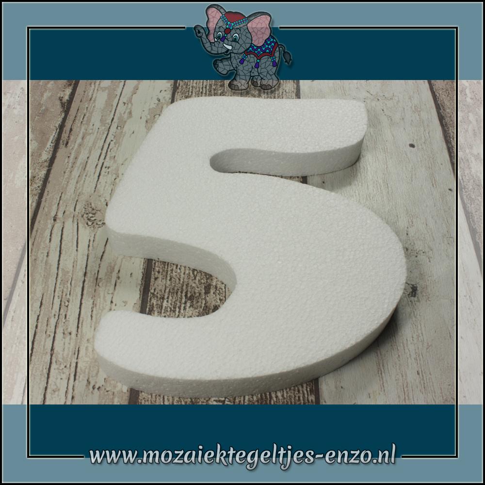 Knutselmateriaal Styropor | Groot | Piepschuim vormen | Cijfer - 5