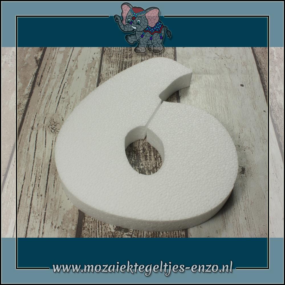 Knutselmateriaal Styropor | Groot | Piepschuim vormen | Cijfer - 6