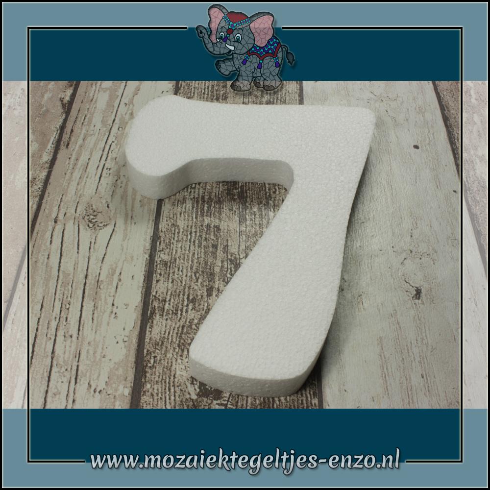 Knutselmateriaal Styropor | Groot | Piepschuim vormen | Cijfer - 7