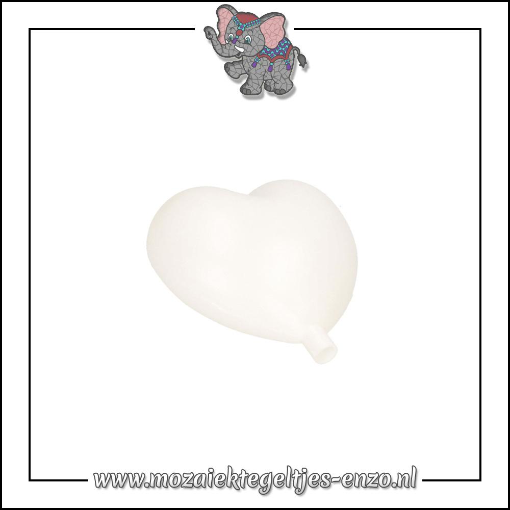 Knutselmateriaal | Tuinsteker | 9,5 cm | Hart met hals