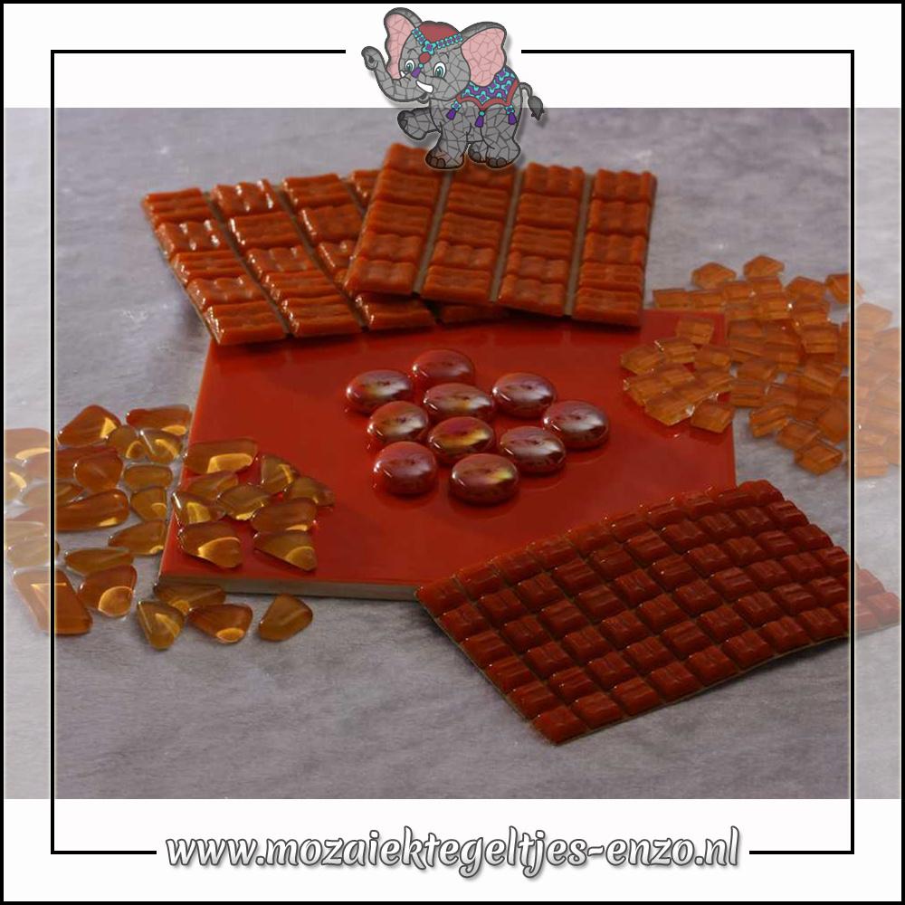 Mozaiek pakket | Gereedschap nodig | Kleurpakket Basic Line - Oranje