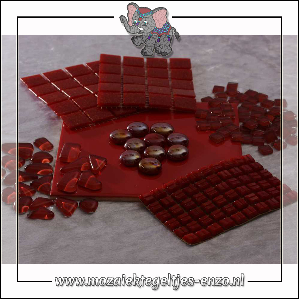 Mozaiek pakket | Gereedschap nodig | Kleurpakket Basic Line - Rood