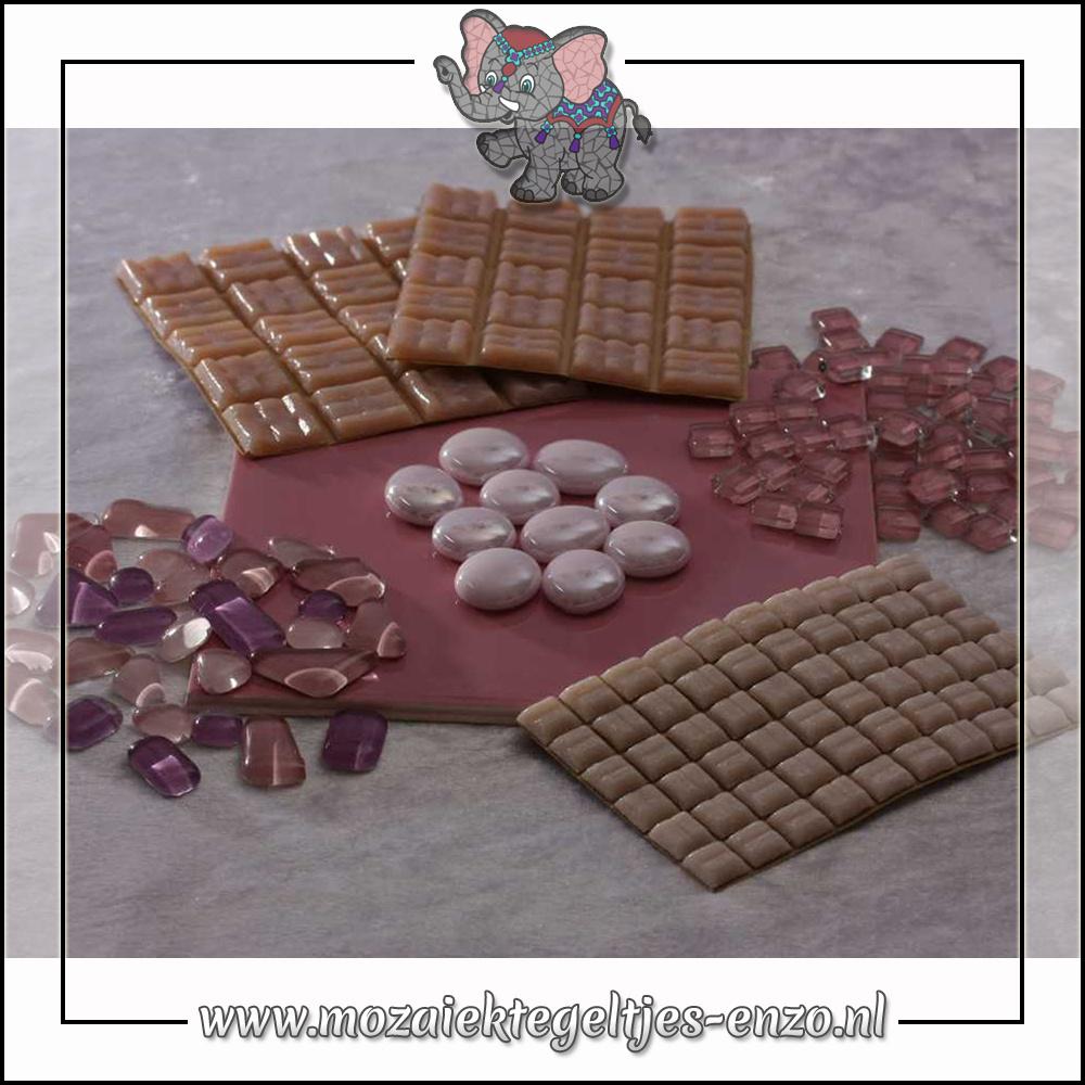 Mozaiek pakket   Gereedschap nodig   Kleurpakket Basic Line - Roze