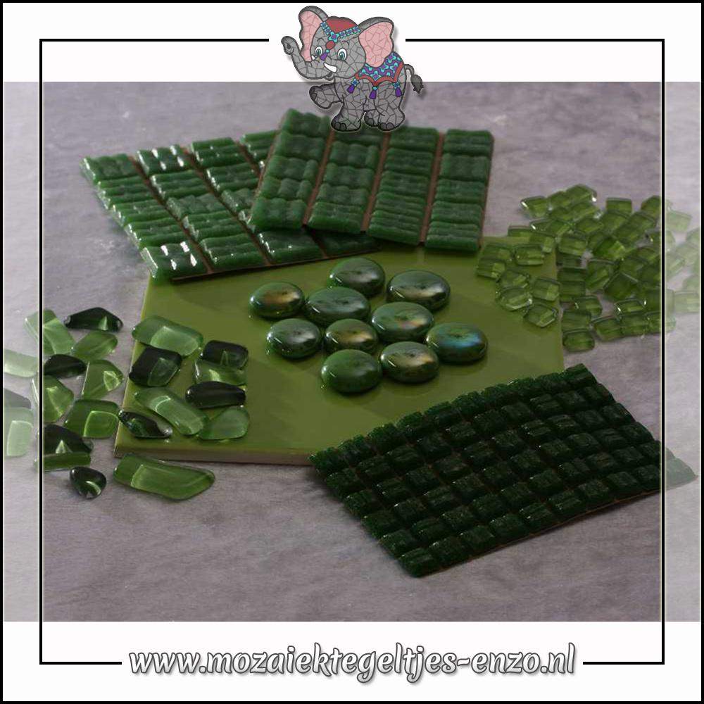 Mozaiek pakket | Gereedschap nodig | Kleurpakket Basic Line - Groen