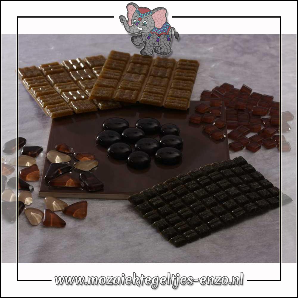 Mozaiek pakket | Gereedschap nodig | Kleurpakket Basic Line - Bruin