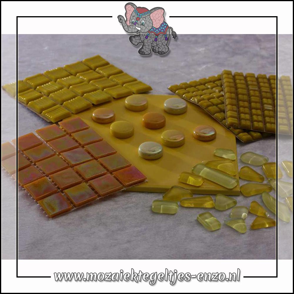 Mozaiek pakket | Gereedschap nodig | Kleurpakket Parelmoer - Geel