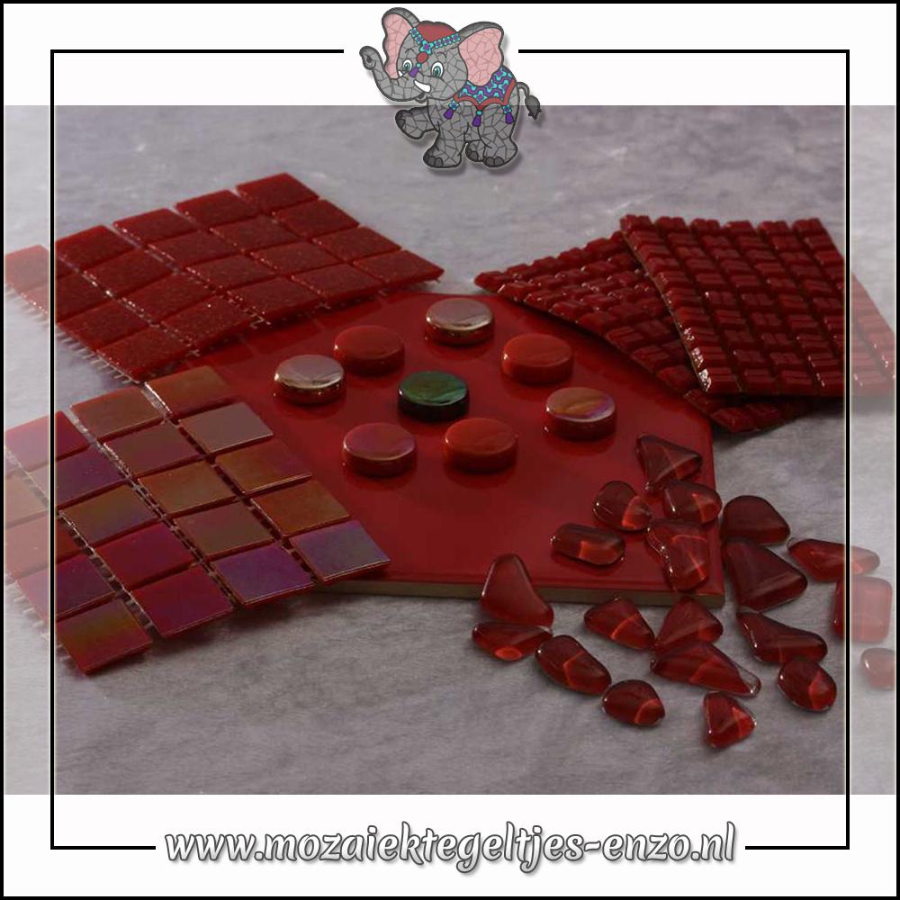 Mozaiek pakket | Gereedschap nodig | Kleurpakket Parelmoer - Rood