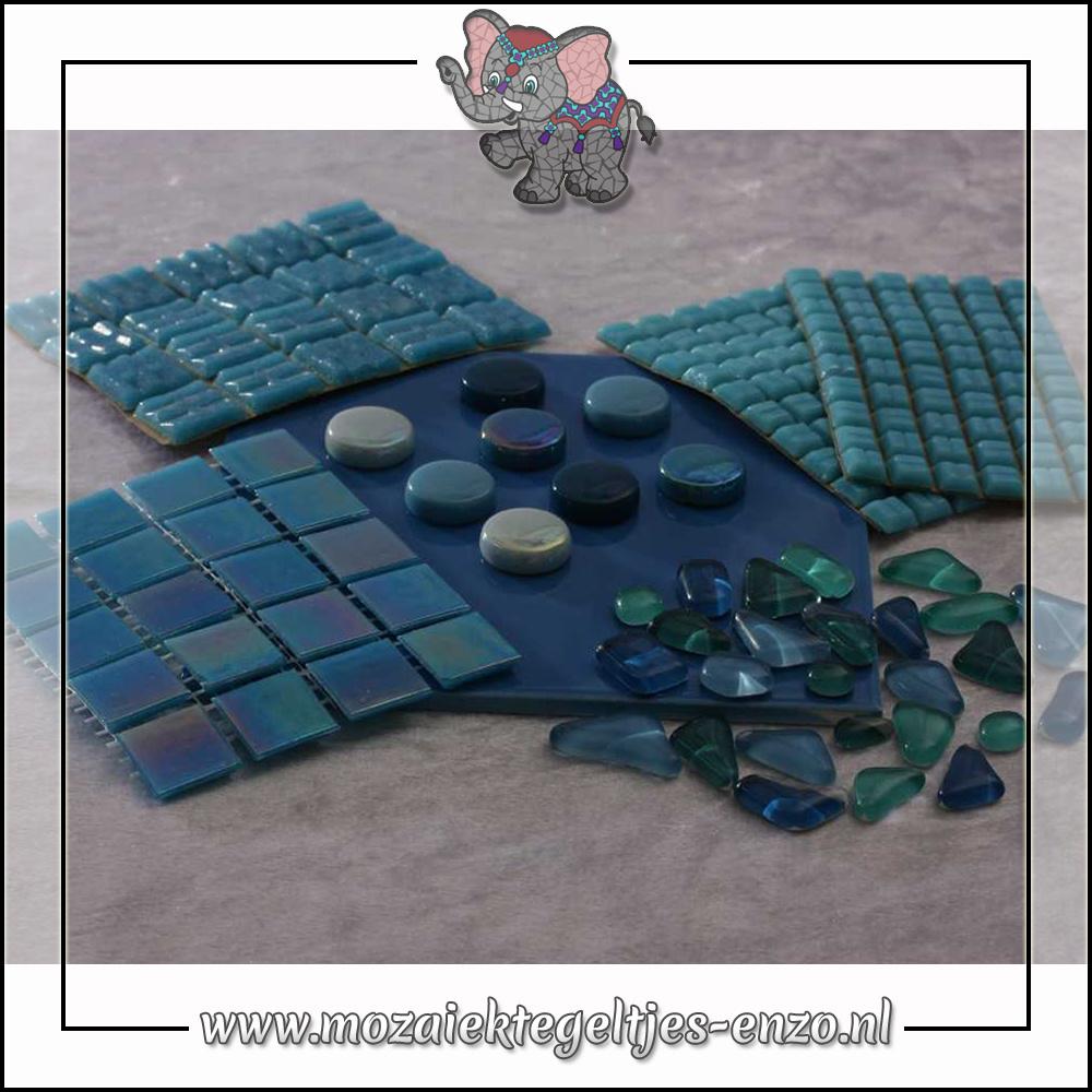 Mozaiek pakket | Gereedschap nodig | Kleurpakket Parelmoer - Blauw