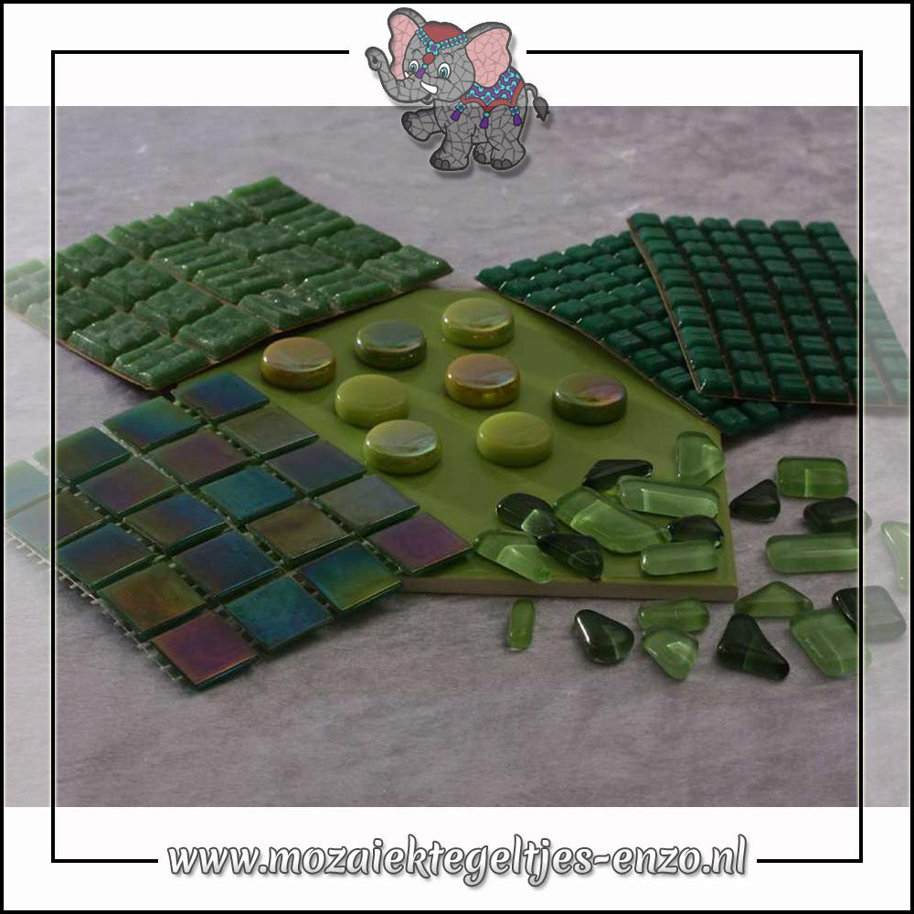 Mozaiek pakket | Gereedschap nodig | Kleurpakket Parelmoer - Groen