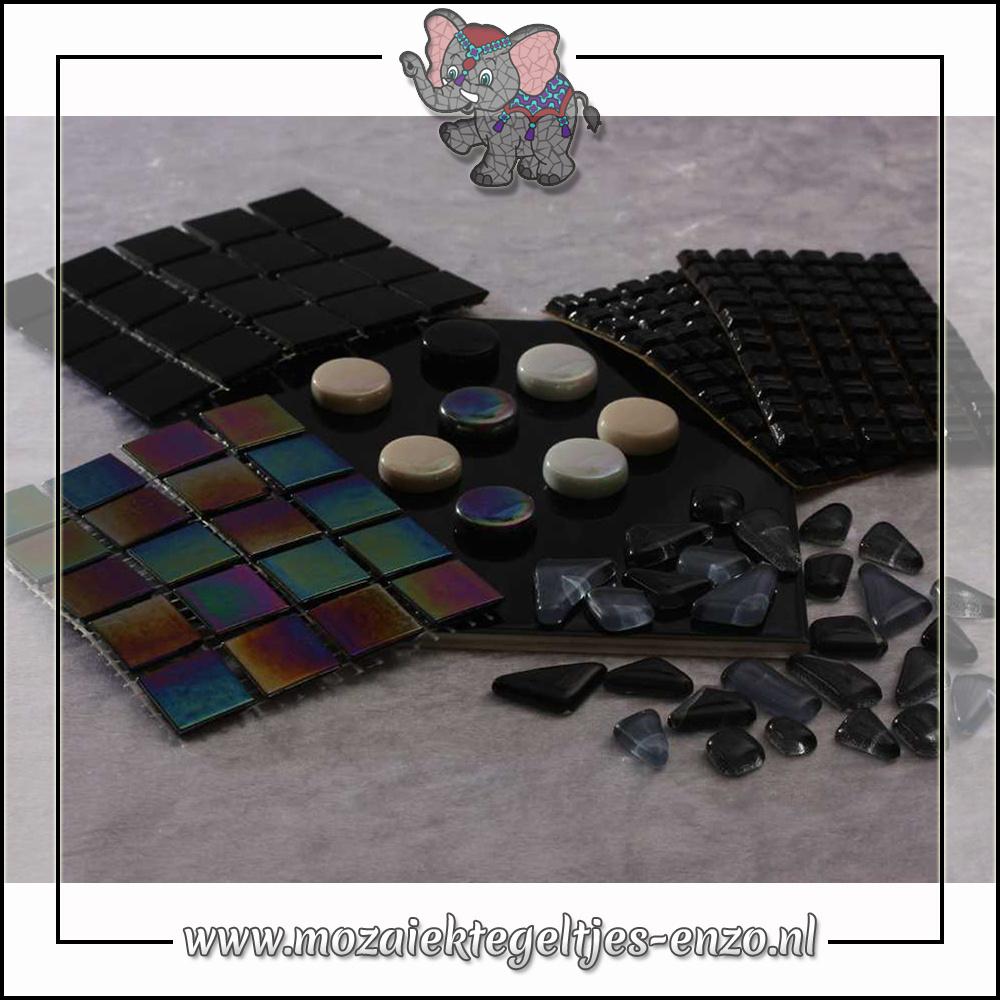 Mozaiek pakket   Gereedschap nodig   Kleurpakket Parelmoer - Zwart