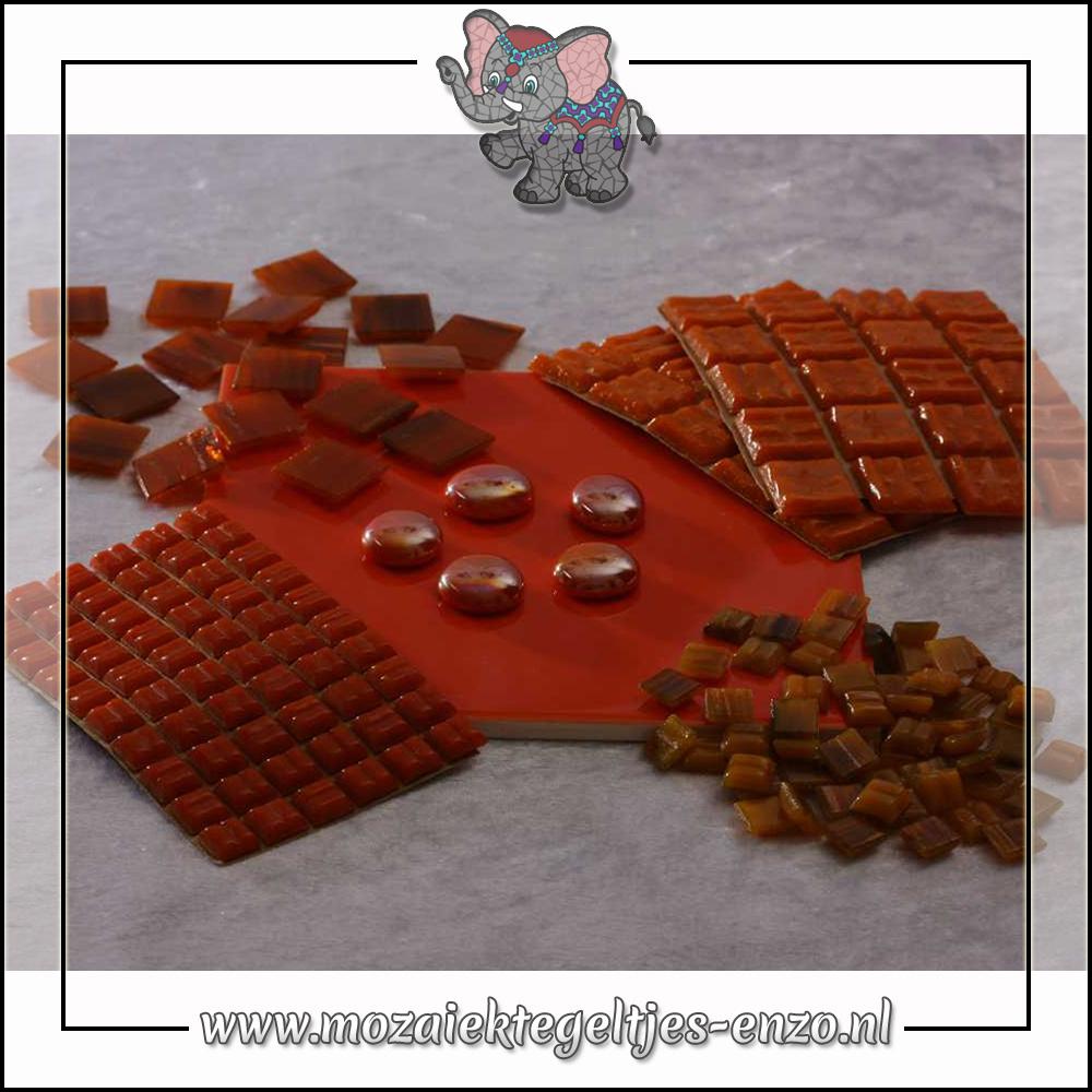Mozaiek pakket   Gereedschap nodig   Kleurpakket Gold Line - Oranje