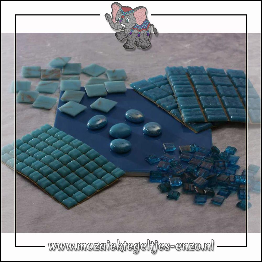 Mozaiek pakket | Gereedschap nodig | Kleurpakket Gold Line - Blauw