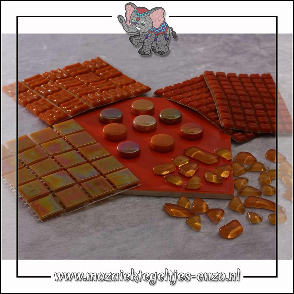 Mozaiek pakket   Gereedschap nodig   Kleurpakket Parelmoer - Oranje