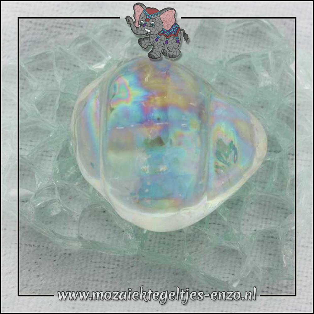 Glas Nuggets Parelmoer | 13-18mm | Enkele Kleuren | 4 stuks |Schelp Transparent