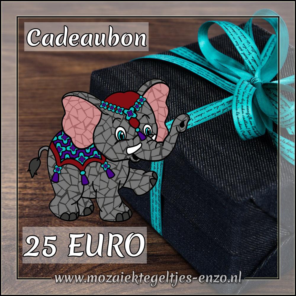 Cadeaubon | Mozaiektegeltjes-enzo | 25 Euro