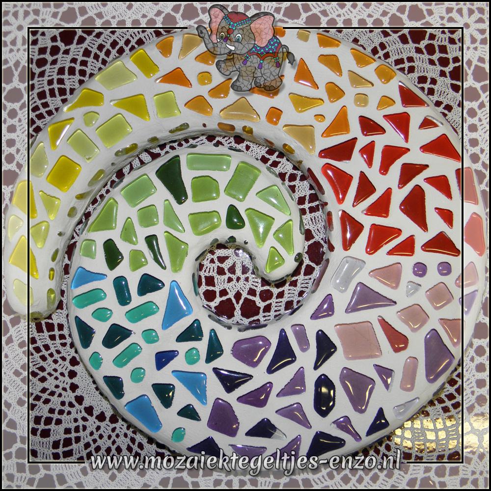 Mozaiek pakket | Geen gereedschap nodig | Swirl - Regenboog