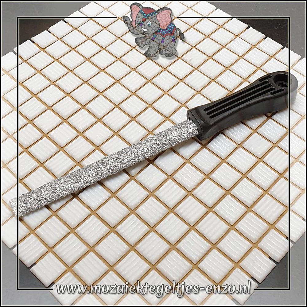 Mozaiek gereedschap | Half rond | Tegelvijl met plastic handvat