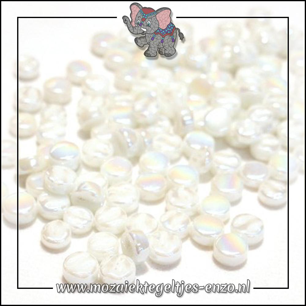 Glasdruppels Parelmoer | 8mm | Enkele Kleuren | 50 gram | Opal White