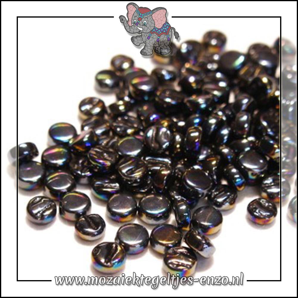 Glasdruppels Parelmoer | 8mm | Enkele Kleuren | 50 gram | Opal Black