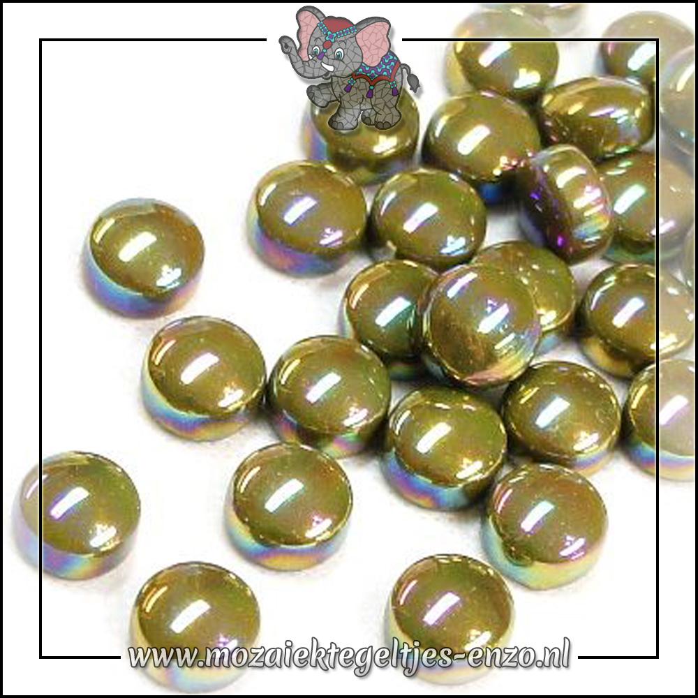 Glasdruppels Parelmoer   12mm   Enkele Kleuren   50 gram  Light Olive
