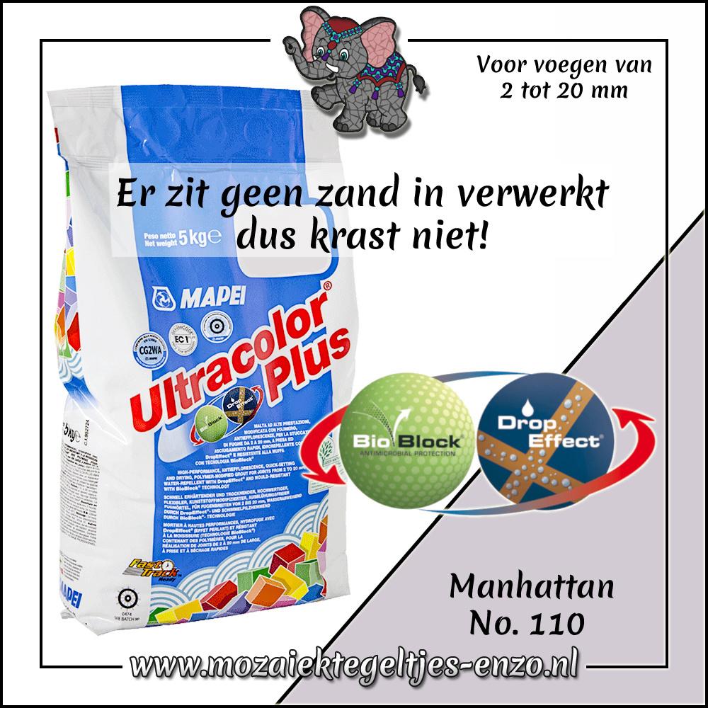 Voegmiddel   Mapei Ultracolor Plus   250 gram  Manhattan 110