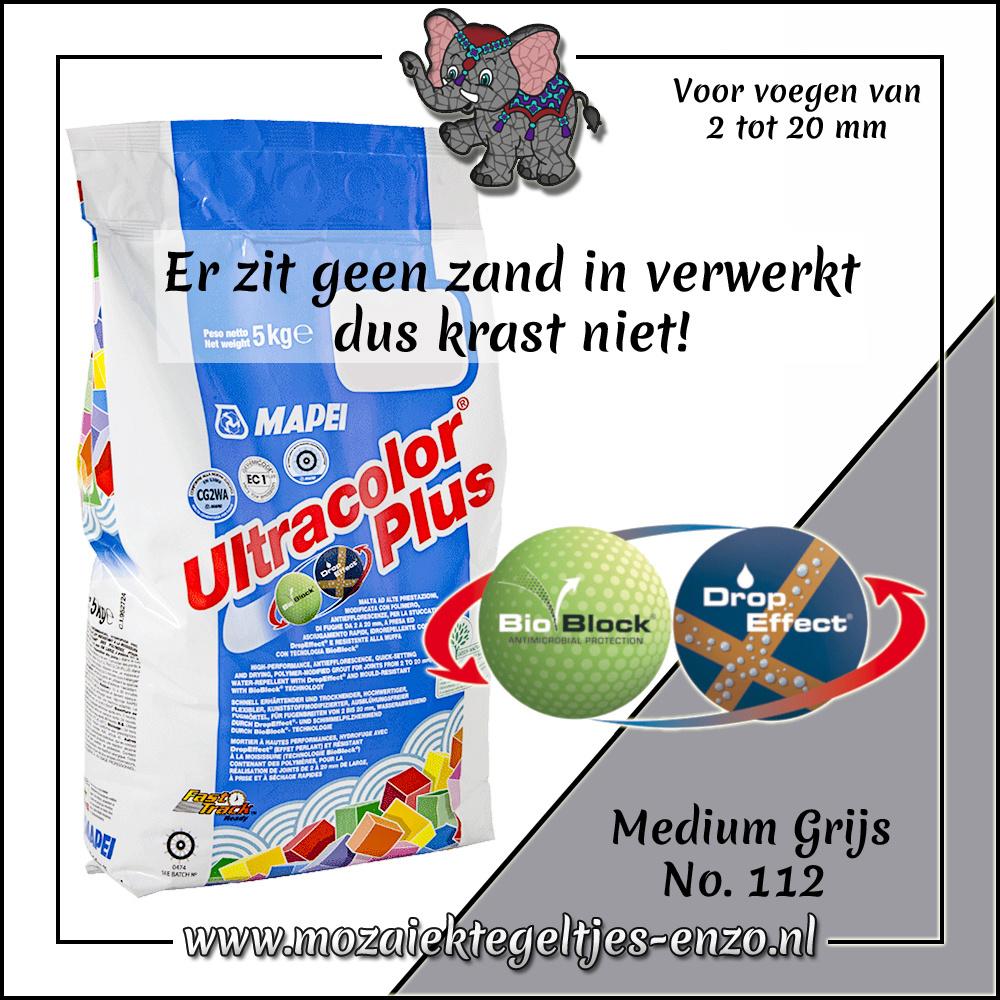 Voegmiddel | Mapei Ultracolor Plus | 250 gram |Medium Grijs 112