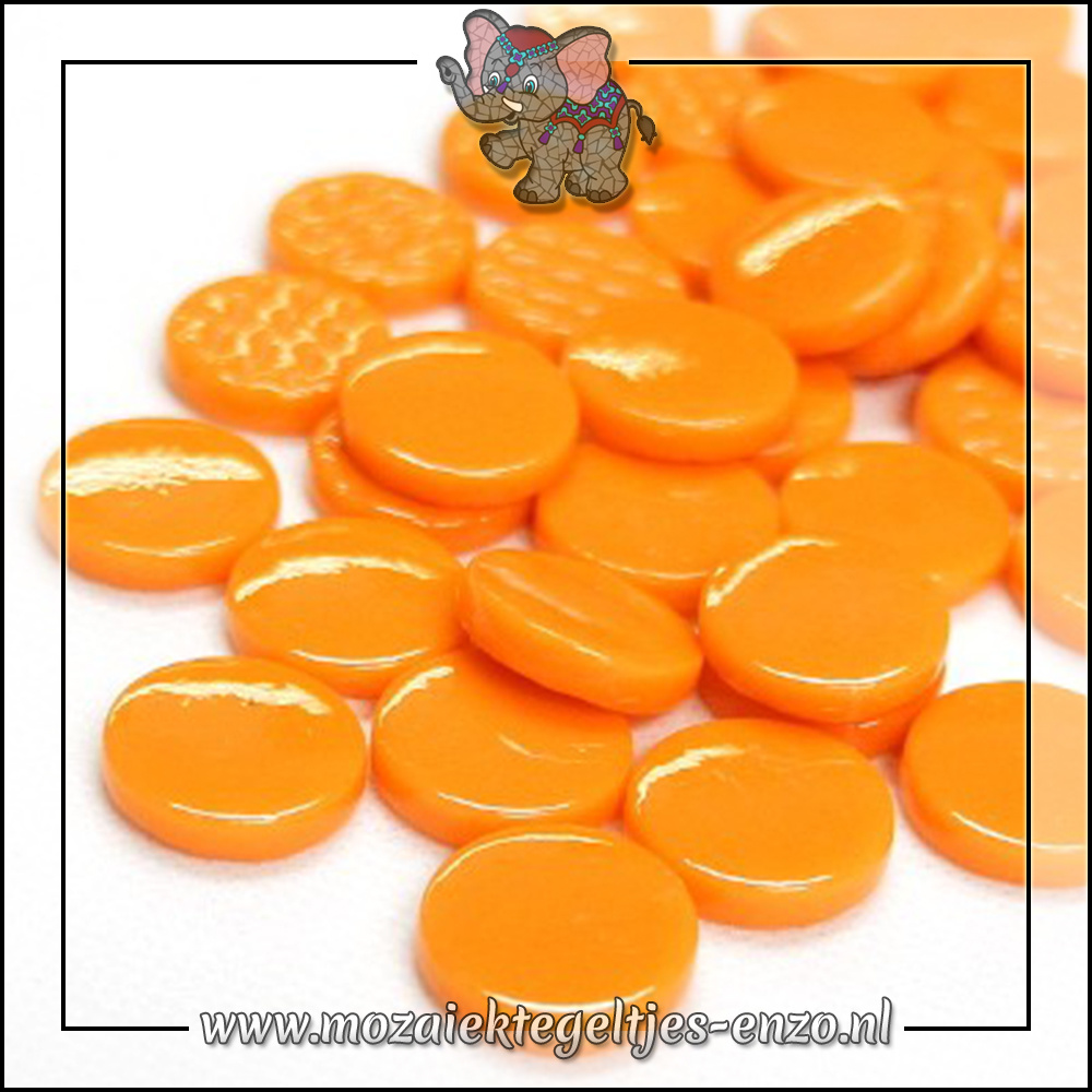 Glasdruppels Normaal   18mm   Enkele Kleuren   50 gram   Opal Orange