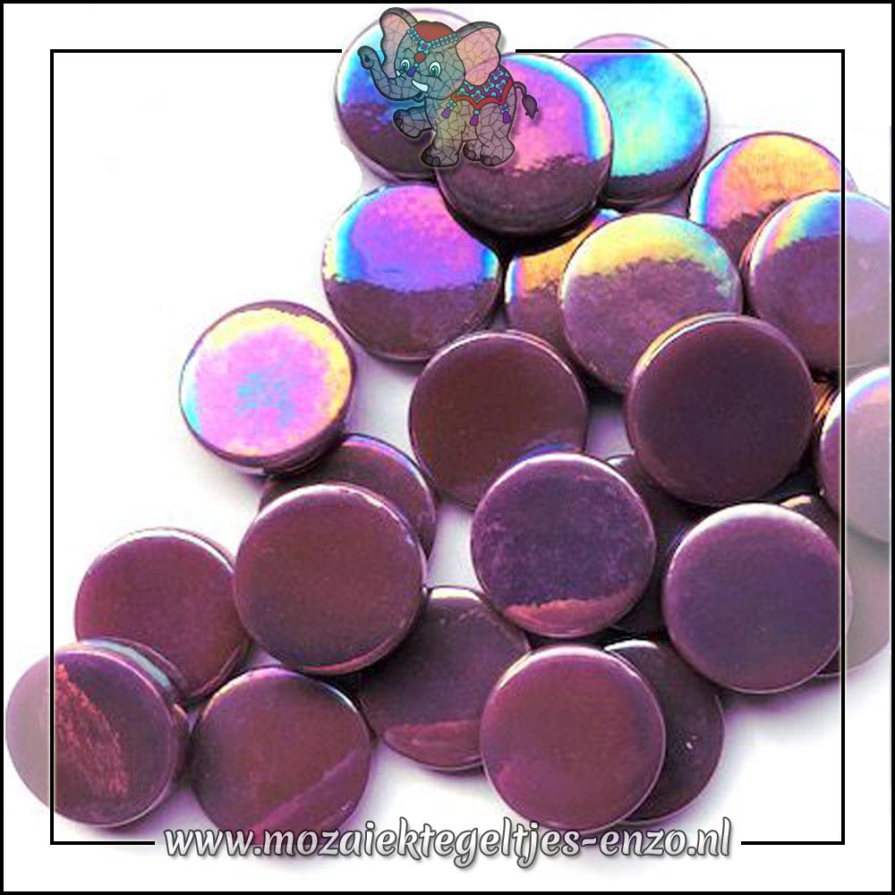Glasdruppels Parelmoer | 18mm | Enkele Kleuren | 50 gram | Deep Purple