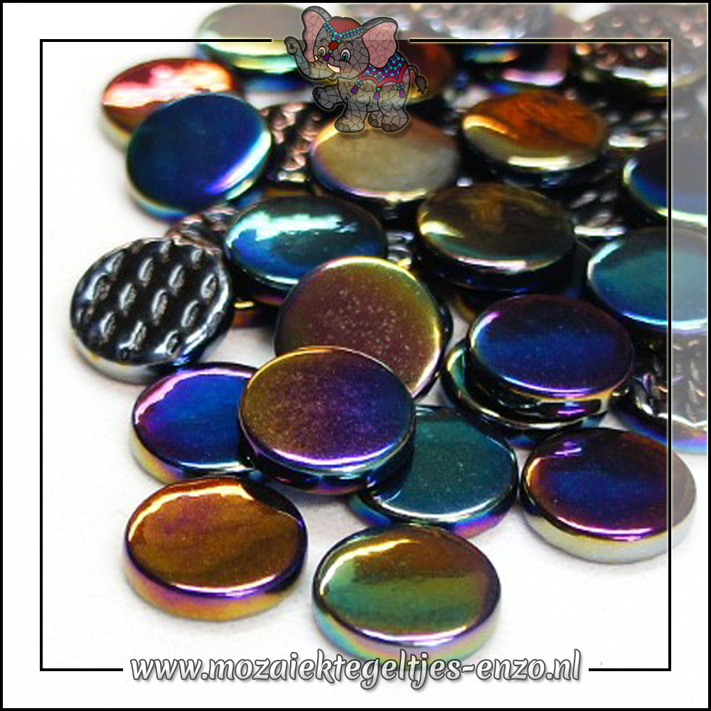 Glasdruppels Parelmoer | 18mm | Enkele Kleuren | 50 gram | Opal Black
