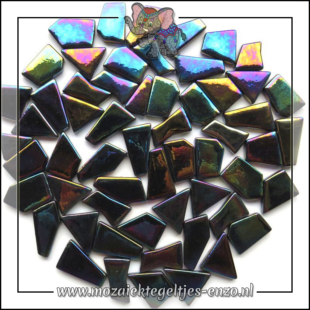 Snippets Puzzelstukjes Parelmoer | Enkele Kleuren | 50 gram | Opal Black