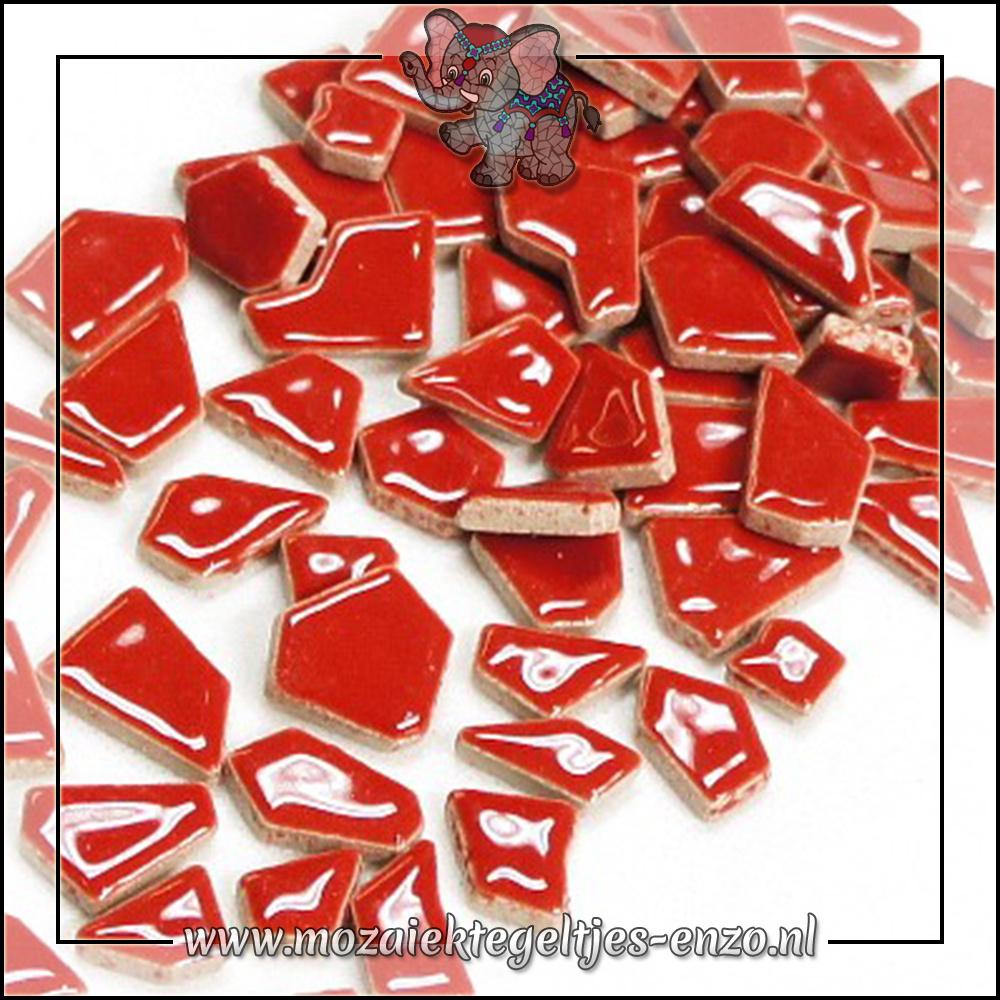Keramiek Puzzelstukjes Normaal | Enkele Kleuren | 50 gram |Poppy Red