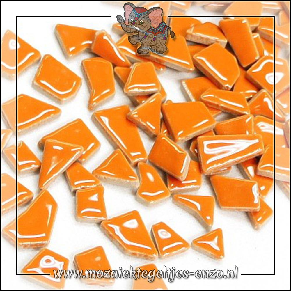 Keramiek Puzzelstukjes Normaal | Enkele Kleuren | 50 gram |Popsicle Orange