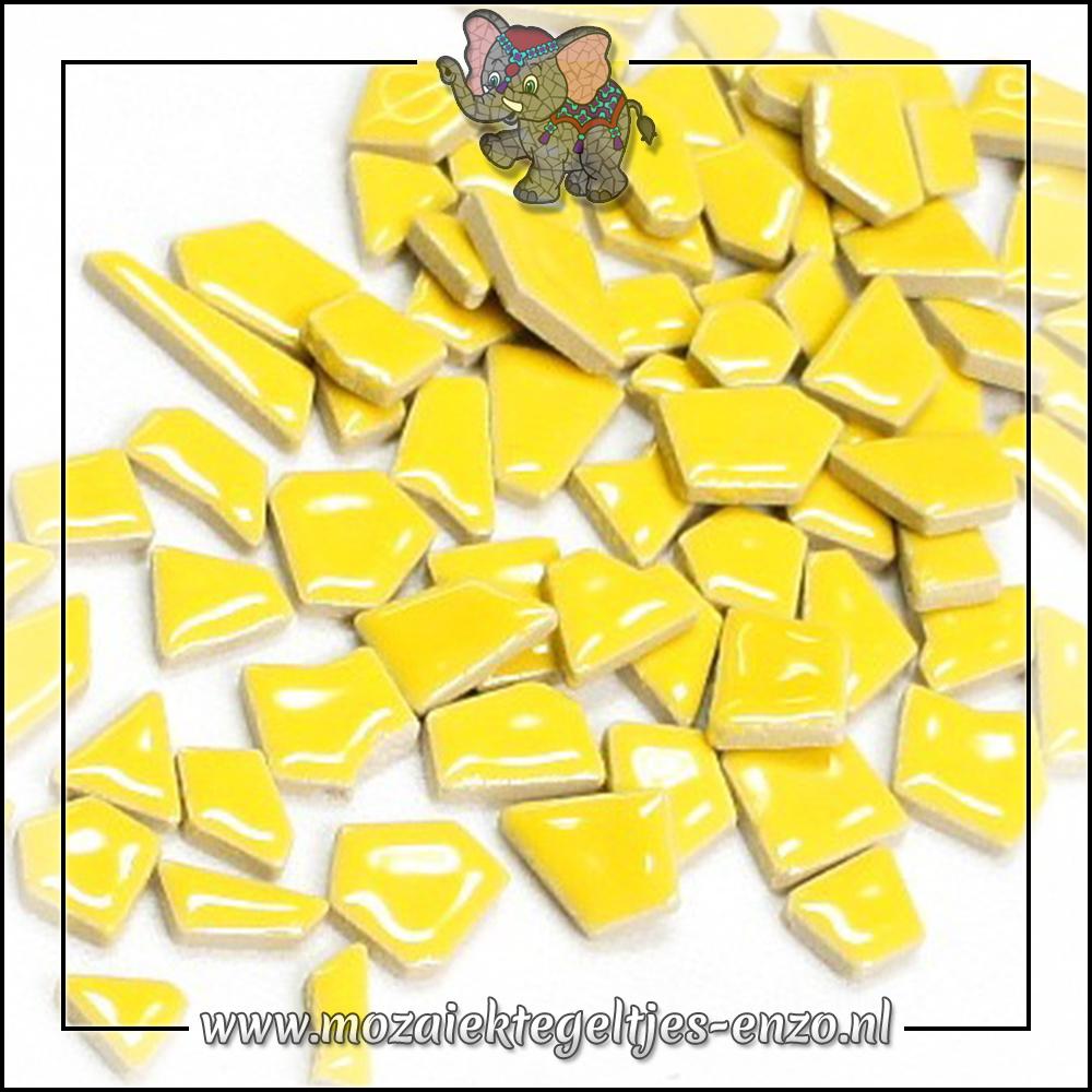 Keramiek Puzzelstukjes Normaal | Enkele Kleuren | 50 gram |Citrus Yellow