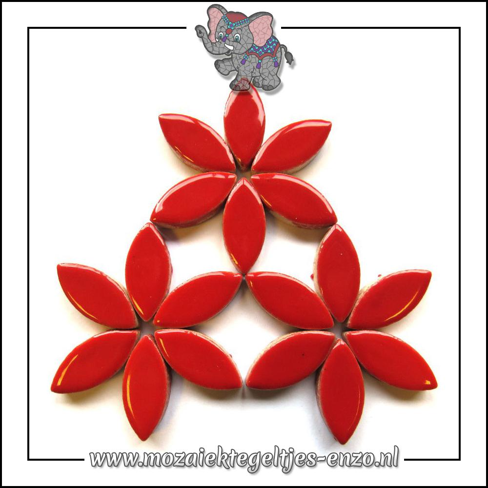 Keramiek Petals Normaal | 25mm | Enkele Kleuren | 50 gram |Poppy Red