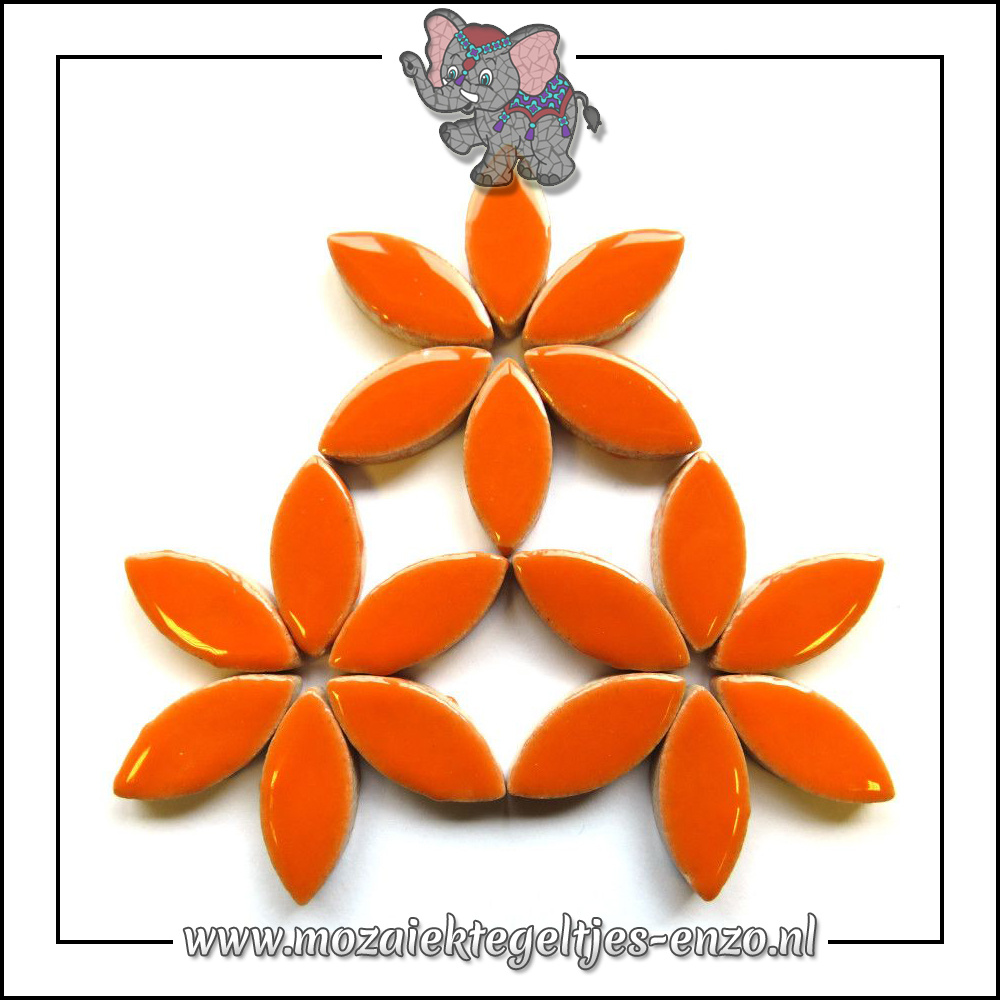 Keramiek Petals Normaal | 25mm | Enkele Kleuren | 50 gram |Popsicle Orange