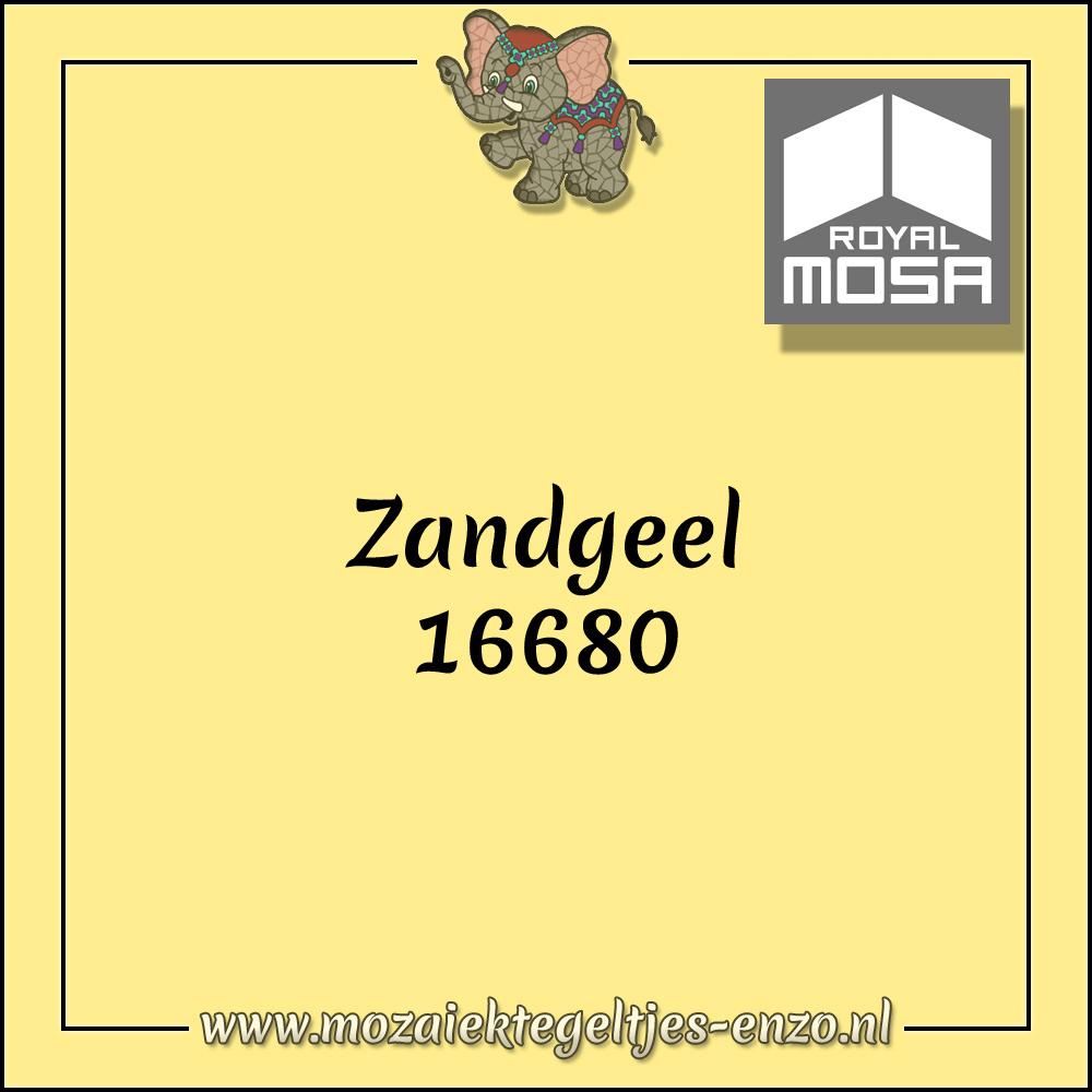Royal Mosa Tegel Glanzend | 7,5cm | Op maat gesneden | 1 stuks |Zandgeel 16680