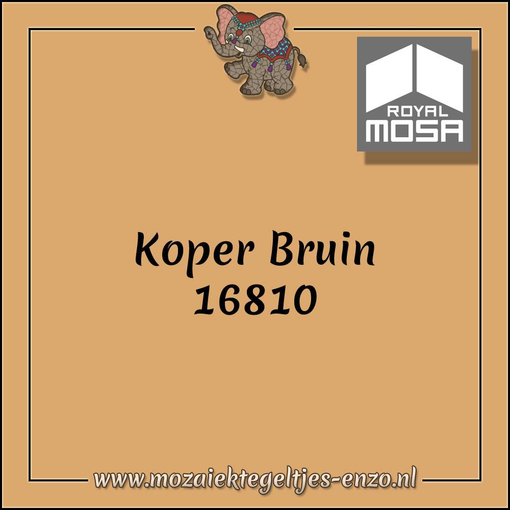 Royal Mosa Tegel Glanzend   7,5cm   Op maat gesneden   1 stuks  Koper Bruin 16810