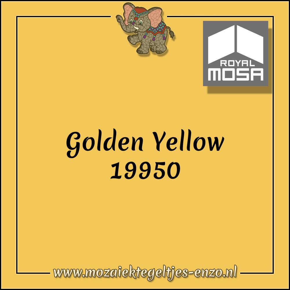 Royal Mosa Tegel Glanzend   7,5cm   Op maat gesneden   1 stuks  Golden Yellow 19950
