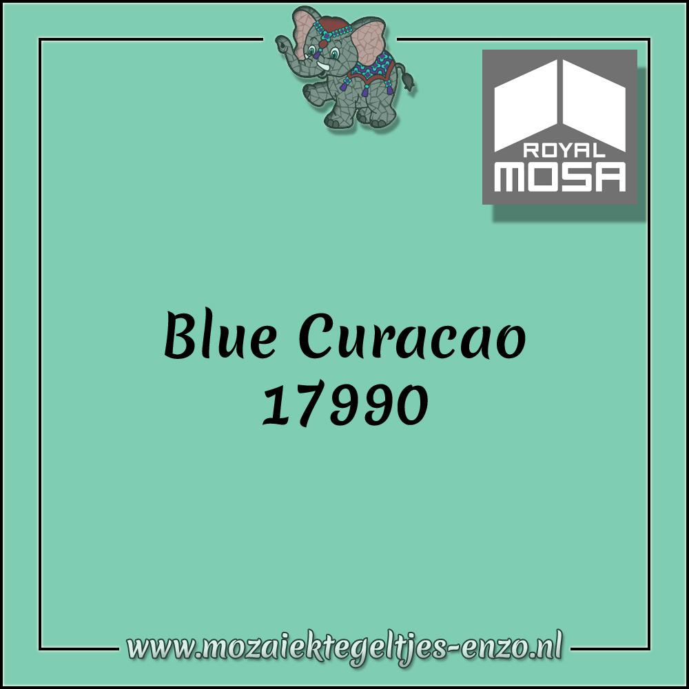 Royal Mosa Tegel Glanzend   7,5cm   Op maat gesneden   1 stuks  Blue Curacao 17990
