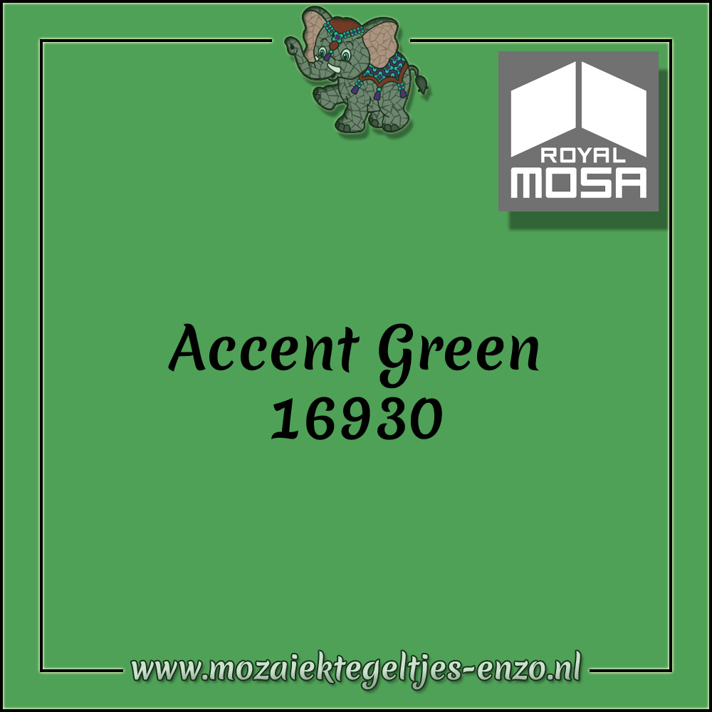 Royal Mosa Tegel Glanzend | 7,5cm | Op maat gesneden | 1 stuks |Accent Green 16930