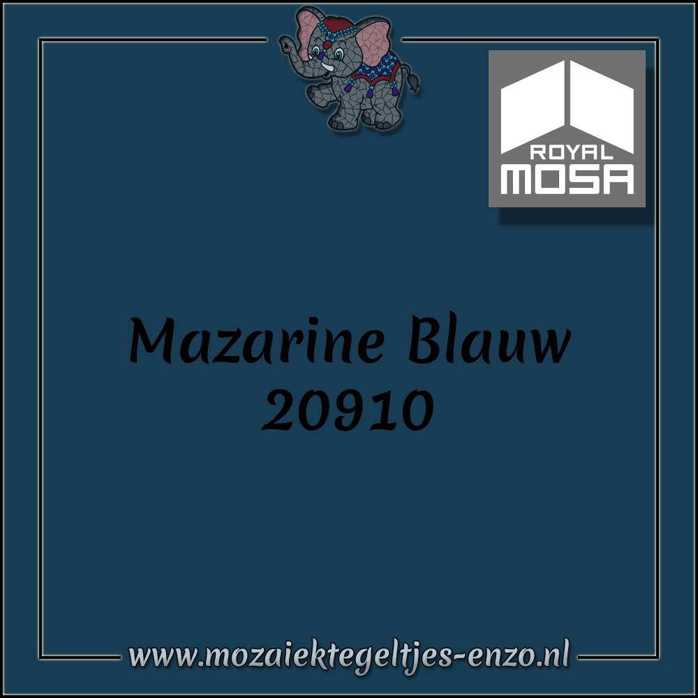 Royal Mosa Tegel Glanzend | 7,5cm | Op maat gesneden | 1 stuks |Mazarine Blauw 20910