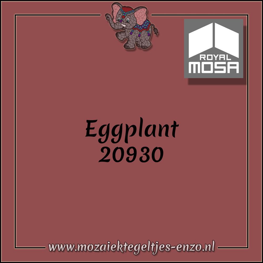 Royal Mosa Tegel Glanzend | 7,5cm | Op maat gesneden | 1 stuks |Eggplant 20930