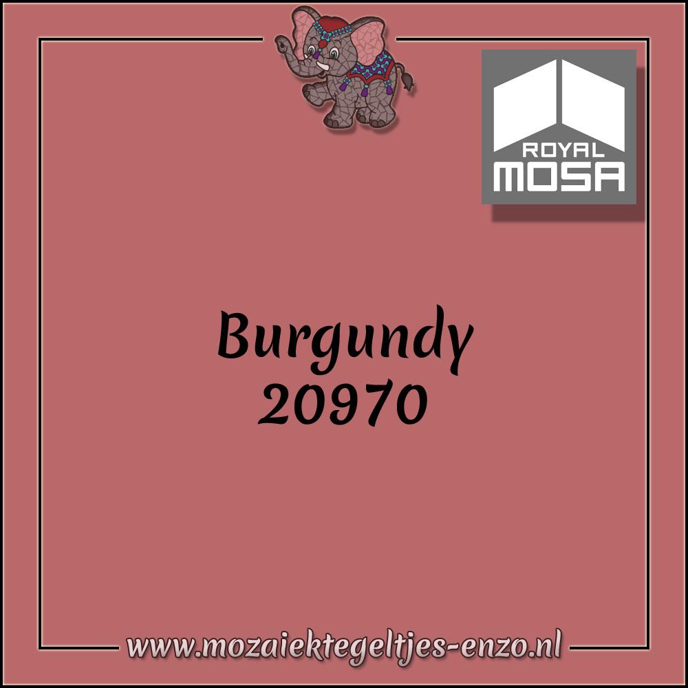 Royal Mosa Tegel Glanzend | 7,5cm | Op maat gesneden | 1 stuks |Burgundy 20970