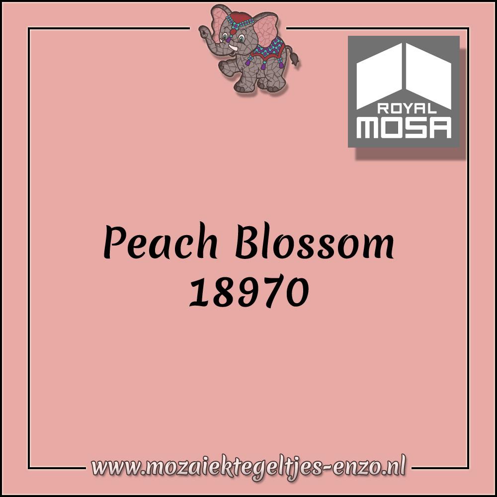 Royal Mosa Tegel Glanzend | 7,5cm | Op maat gesneden | 1 stuks |Peach Blossom 18970