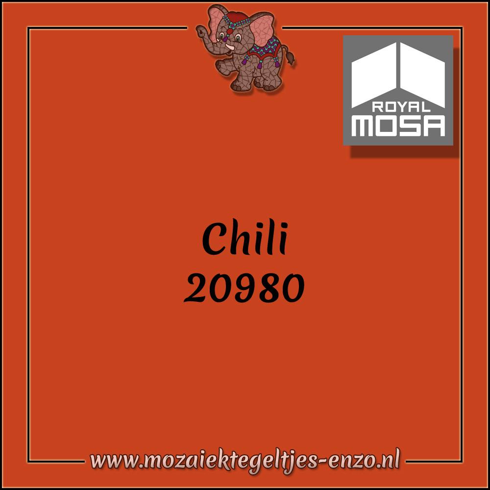 Royal Mosa Tegel Glanzend   7,5cm   Op maat gesneden   1 stuks  Chili 20980