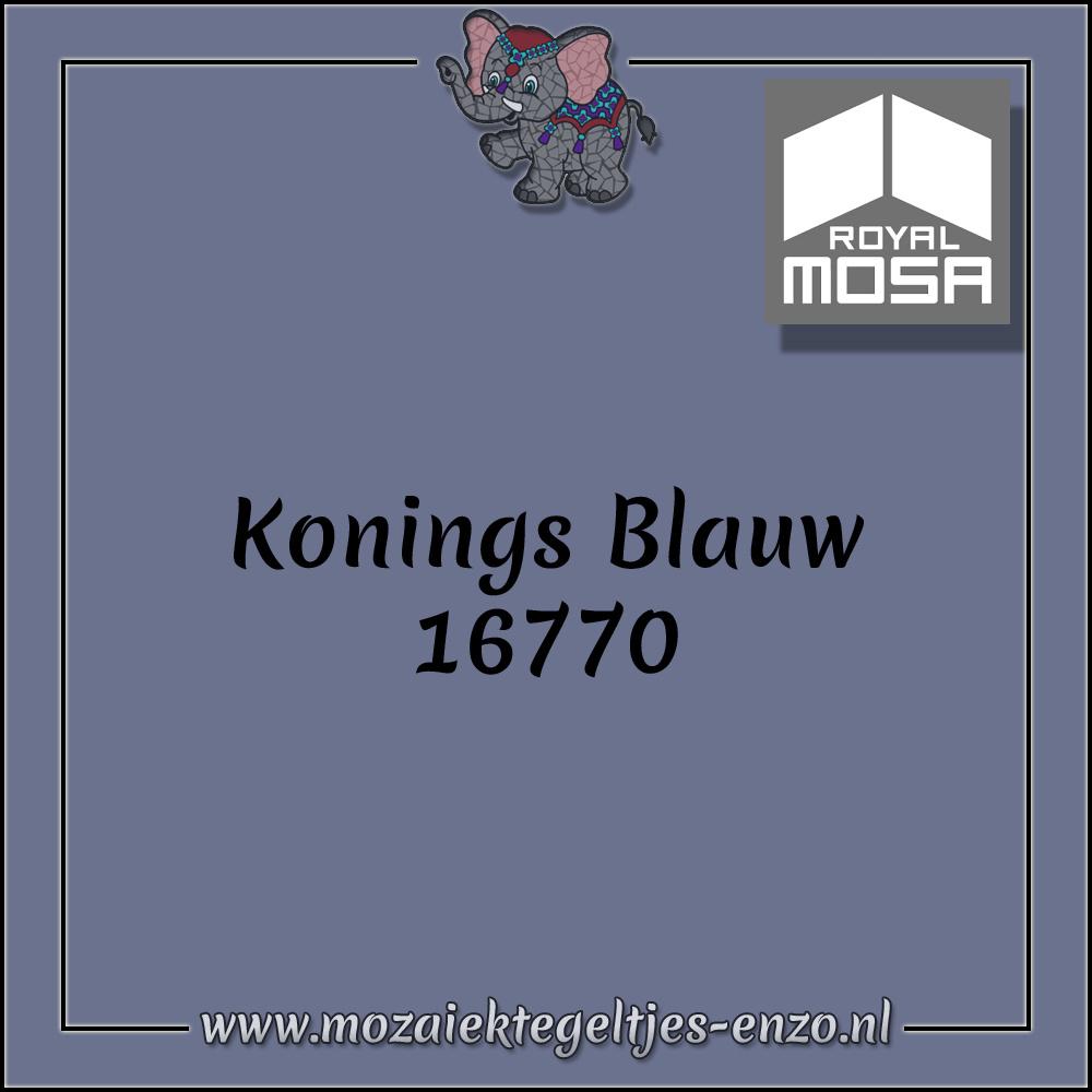Royal Mosa Tegel Glanzend | 7,5cm | Op maat gesneden | 1 stuks |Konings Blauw 16770