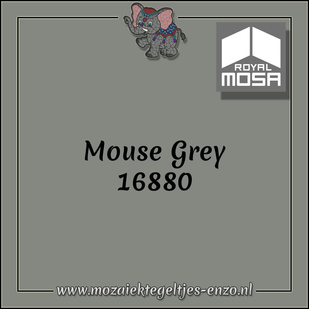 Royal Mosa Tegel Glanzend | 7,5cm | Op maat gesneden | 1 stuks |Mouse Grey 16880