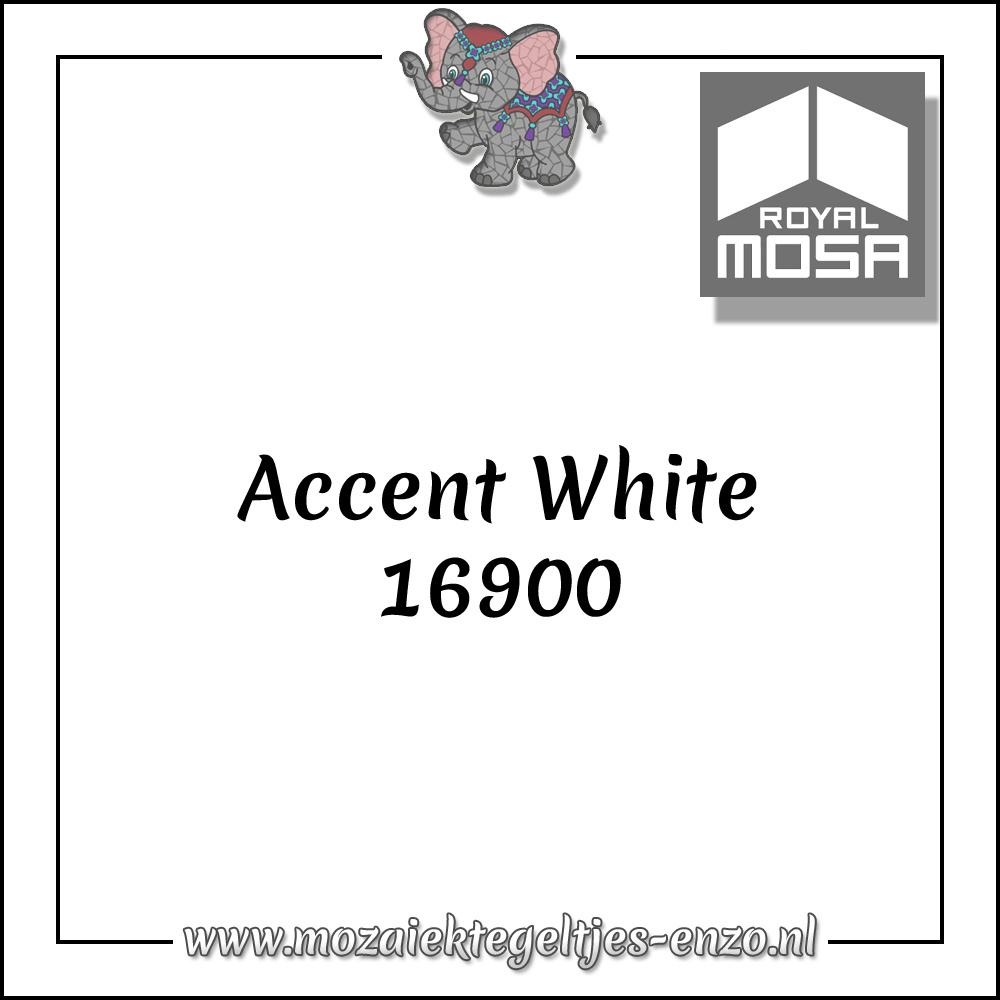 Royal Mosa Tegel Glanzend | 7,5cm | Op maat gesneden | 1 stuks |Accent White 16900