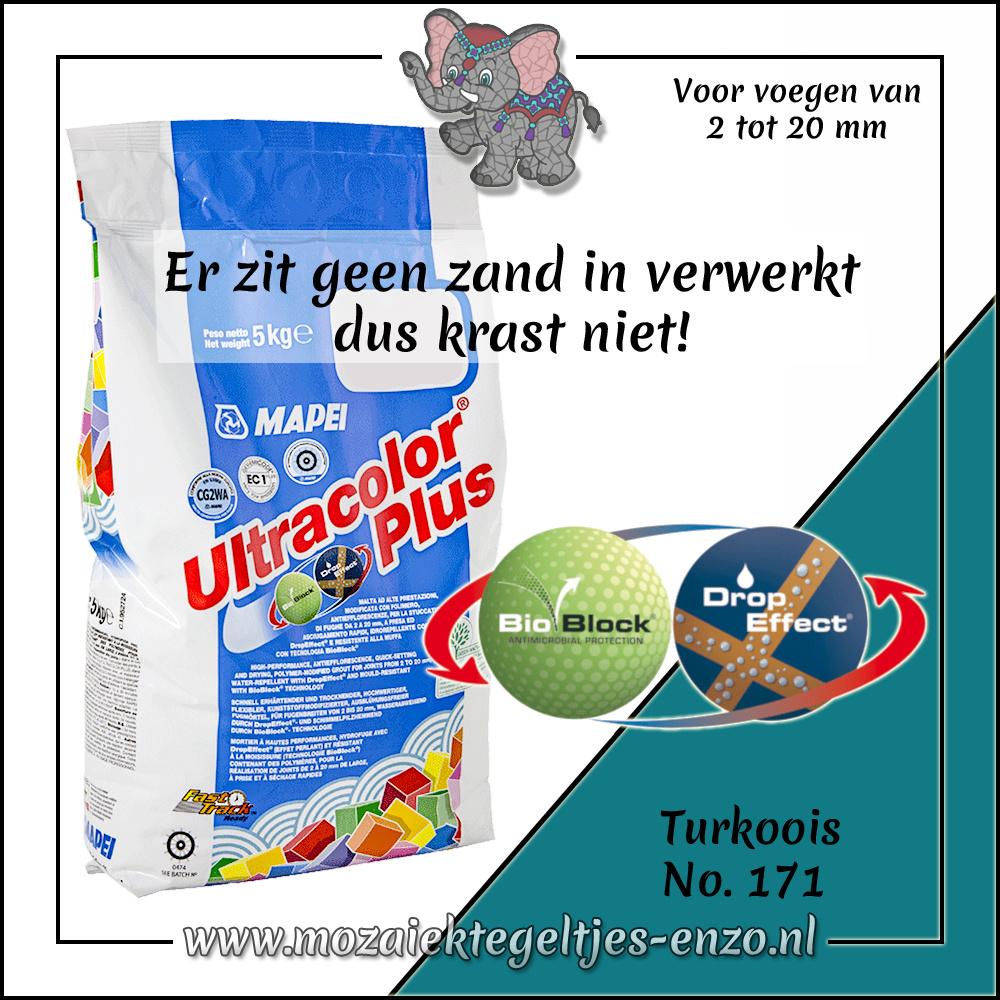 Voegmiddel | Mapei Ultracolor Plus | 250 gram |Turkoois 171